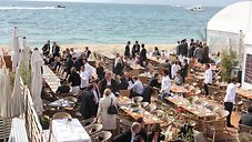 MIPIM 2010 - Lunch am Strand von Cannes